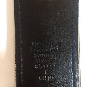 Michael Kors Accessories - [Michael Kors] brown leather gold belt new tags L